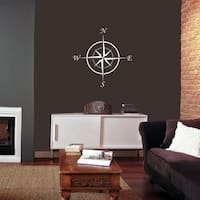 """Compass Wall Decal - 22"""" x 22"""""""