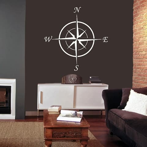 34-inch Vinyl Compass Wall Decal