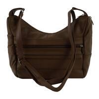 Continental LeatherShoulder Bag with  Adjustable Shoulder Strap - L