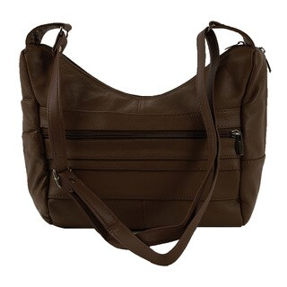 Continental LeatherShoulder Bag with Adjustable Shoulder Strap - L