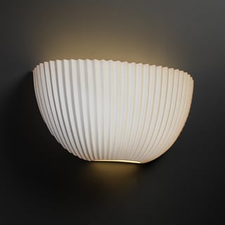 Justice Design Group Limoges ADA Quarter Sphere Wall Sconce, Pleats