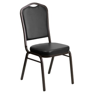 Cautley Black Upholstered Stack Dining Chairs