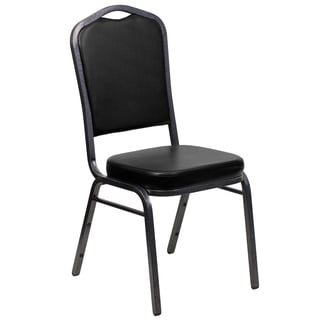 Alpinia Black Upholstered Stack Dining Chairs