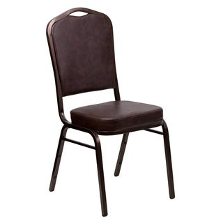 Jaca Brown Upholstered Stack Dining Chairs
