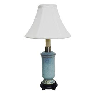 Sky Blue Small Bottle Porcelain Lamp