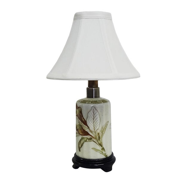 Autumn Lotus Small Bottle Porcelain Lamp