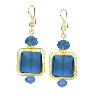 Saachi Glass Bead Square Drop Earrings (China)