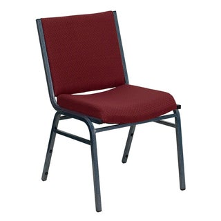 Santem Burgundy Upholstered Stack Dining Chairs