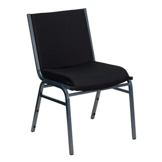 Santem Black Upholstered Stack Dining Chairs
