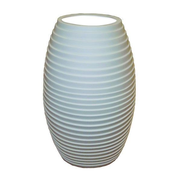 Justice Design Group Limoges Tall Egg Accent Lamp, Sawtooth