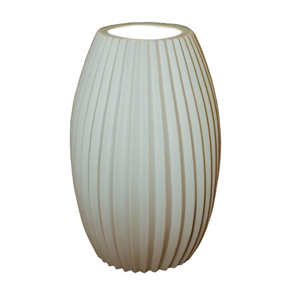 Justice Design Group Limoges Tall Egg Accent Lamp, Pleats