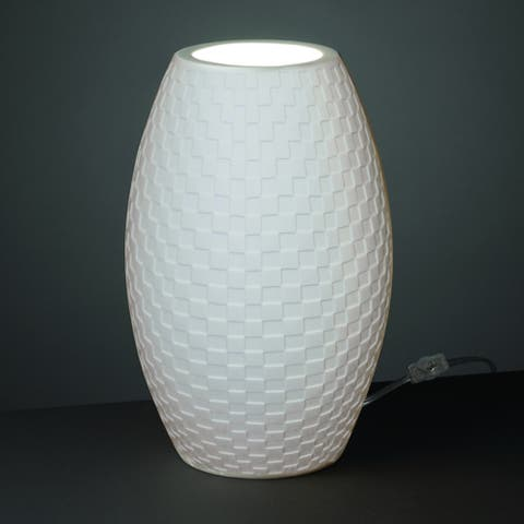 Justice Design Limoges Tall Egg Accent Lamp, Checkerboard