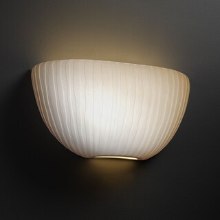 Justice Design Group Limoges ADA Quarter Sphere Wall Sconce, Waterfall
