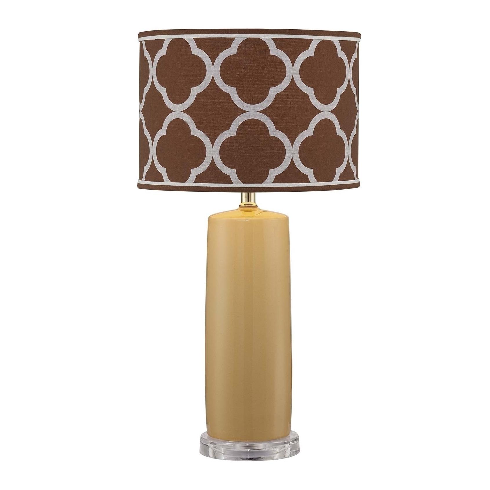 Lite Source Monisha 1-light Table Lamp (Mustard, Light Br...
