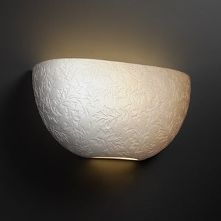 Justice Design Group Limoges ADA Quarter Sphere Wall Sconce, Leaves