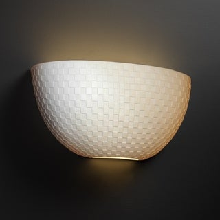 Justice Design Group Limoges ADA Quarter Sphere Wall Sconce, Checkerboard