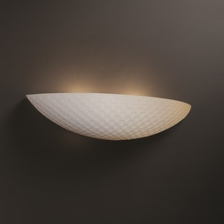 Justice Design Group Limoges ADA Small Sliver Wall Sconce, Checkerboard