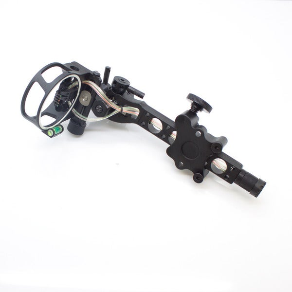 SAS 5-pin .019-inch Bow Sight with Micro Adjust Detachable Bracket and LED Sight Light