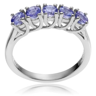 Journee Collection Sterling Silver Round Tanzanite Ring