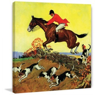 """Marmont Hill - """"Fox Hunter"""" by Robert Keareote Painting Print on Canvas - Multi-color"""