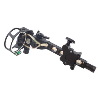SAS 7-pin .019-inch Bow Sight with Micro Adjust Detachable Bracket LED Sight Light