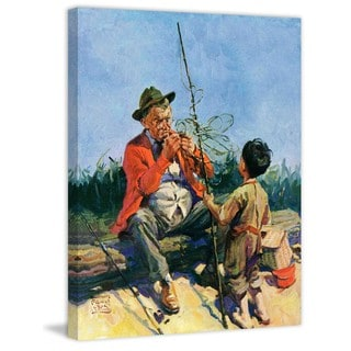 """Marmont Hill - """"Tangled Fishing Line"""" by WM. Meade Prince Painting Print on Canvas"""