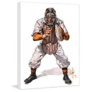 """Marmont Hill - """"Baseball Catcher"""" by J.C. Leyendecker Painting Print on Canvas"""