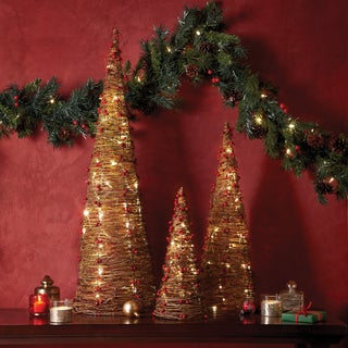 Apothecary & Company 3-Piece LED Twine Trees