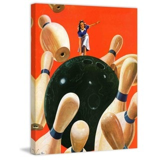 """Marmont Hill - """"Bowling Strike"""" by Lonie Bee Painting Print on Canvas"""