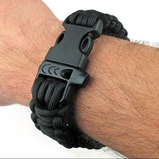 SAS 550-pound Paracord Survival Bracelet with Whistle