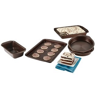 Circulon(r) Symmetry(tm) Nonstick Bakeware 5-Piece Bakeware Set, Chocolate Brown