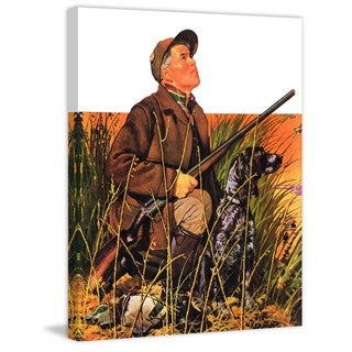 """Marmont Hill - """"Hunter & Dog in Field"""" by J.F. Kernan Painting Print on Canvas"""