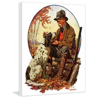 """Marmont Hill - """"Hunter and Spaniel"""" by J.F. Kernan Painting Print on Canvas"""
