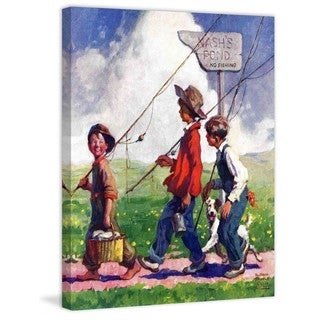 "Marmont Hill - ""Going Fishing"" by WM. Meade Prince Painting Print on Canvas"