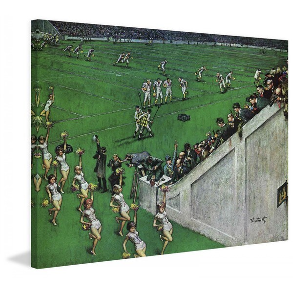 "Marmont Hill - ""7 Baton Twirlers Leave the Field"" by Thornton Utz Painting Print on Canvas"