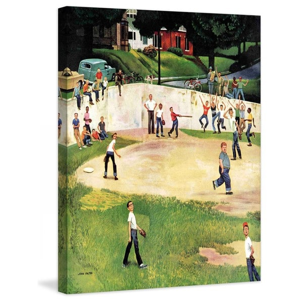 "Marmont Hill - ""Sandlot Homerun"" by John Falter Painting Print on Canvas - Multi-color"