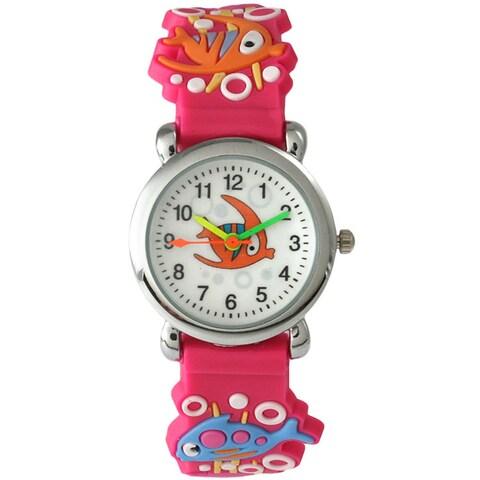Olivia Pratt Children's 4049 Silvertone Bezel Sea Creature Watch