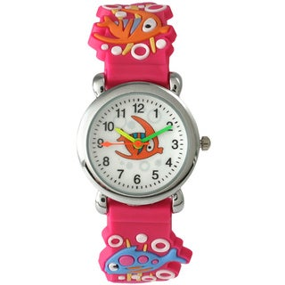 Olivia Pratt Children's 4049 Silvertone Bezel Sea Creature Watch