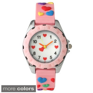 Olivia Pratt Children S Colorful Hearts Watch