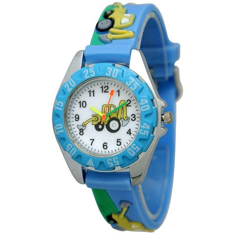 Olivia Pratt Children's Tractor Watch - Blue
