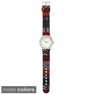 Olivia Pratt Women's 10352 Multicolor Pattern Watch