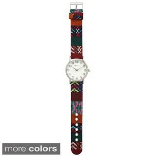 Olivia Pratt Women's Multicolor Pattern Watch