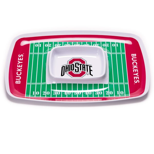 Ohio State Chip and Dip Tray