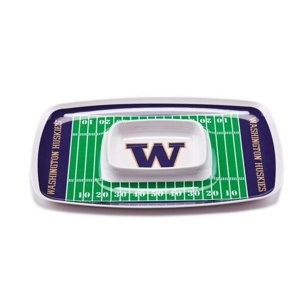 Washington Huskies Chip and Dip Tray