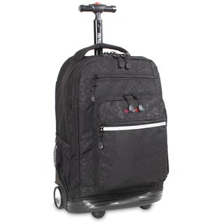 J World Argyle Black Sundance Rolling 15.4-inch Laptop Backpack