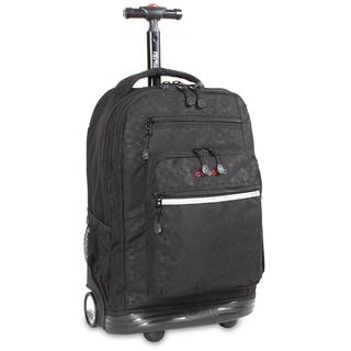 J World Argyle Black Sundance Rolling 15.4-inch Laptop Backpack