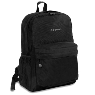 J World Black OZ Expandable 17-inch Backpack