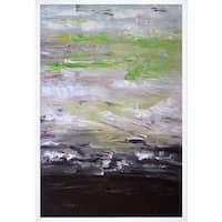 Lisa Carney 'Avr0312' Hand Painted Framed Canvas Art