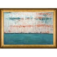 Lisa Carney 'Opal Realm' Hand Painted Framed Canvas Art