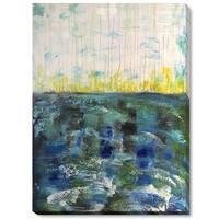 Lisa Carney 'Mer Tourmantee' Hand Painted Framed Canvas Art